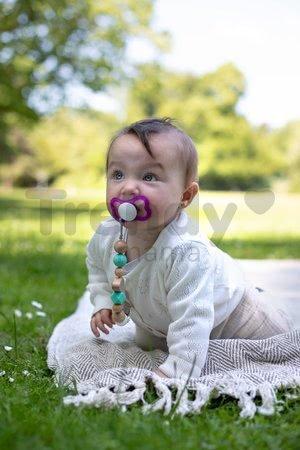 Drevená retiazka na cumlík Bio 100% Natur Baby Pure Dummy Chain Eichhorn s korálikmi 19 cm od 0 mes