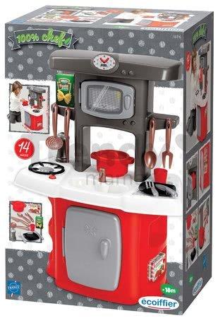 Kuchynka s mikrovlnkou Loft Écoiffier s chladničkou a 14 doplnkov od 18 mes