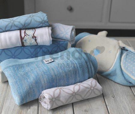 Osuška s kapucňou pre najmenších toTs-smarTrike zajačik 100% prírodná bavlna modrá od 0 mesiacov
