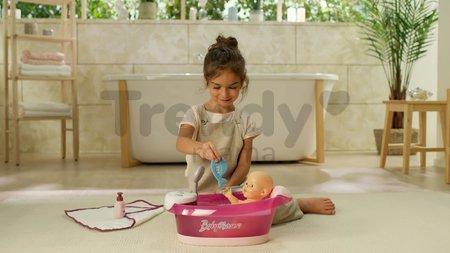 Vanička s tečúcou vodou elektronická Violette Baby Nurse Smoby s jacuzzi kúpelom a Led osvetlením pre 42 cm bábiku