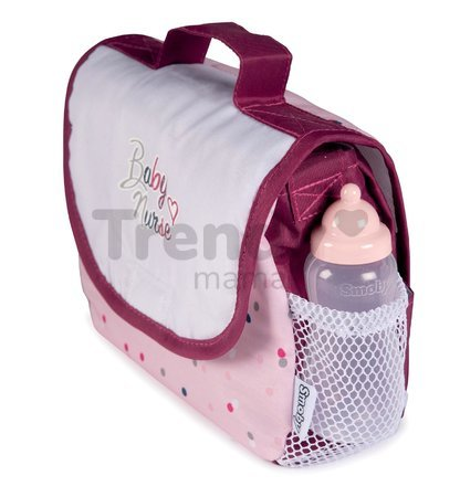 Prebaľovacia taška s plienkou Violette Baby Nurse Smoby so 7 doplnkami s nastaviteľným ramienkom