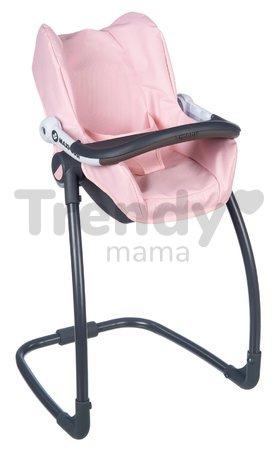 Jedálenská stolička s autosedačkou a hojdačkou Powder Pink Maxi Cosi&Quinny Smoby trojkombinácia s bezpečnostným pásom