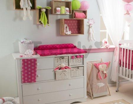 Prebaľovacia podložka Joy toTs-smarTrike s 2 obliečkami hroch 100% satén bavlna ružová od 0 mesiacov