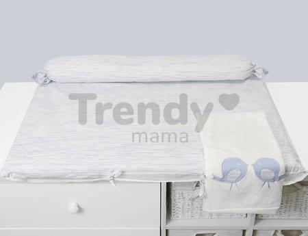 Prebaľovacia podložka Classic toTs-smarTrike s 2 obliečkami vtáčiky 100% satén bavlna modrá od 0 mesiacov