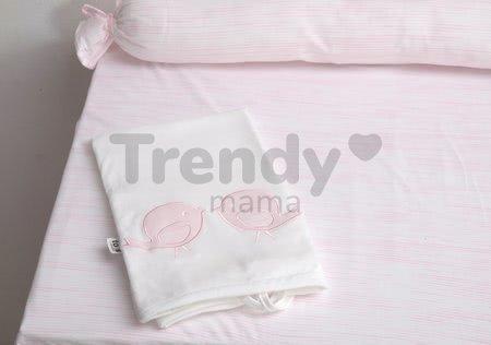 Prebaľovacia podložka Classic toTs-smarTrike s 2 obliečkami vtáčiky 100% satén bavlna ružová od 0 mesiacov