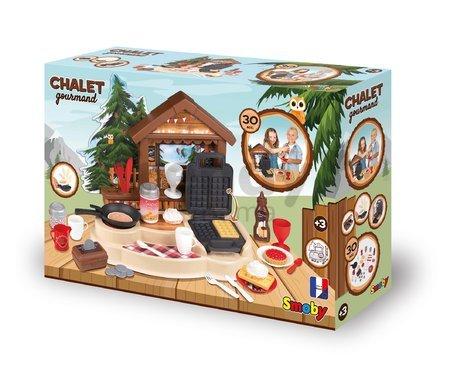 Horská chata palacinkáreň Winter Chalett Smoby s vaflovačom a sporákom s 30 doplnkami