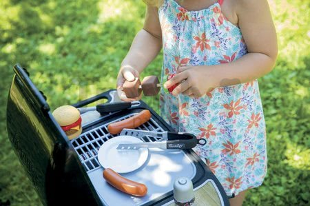 Grill Barbecue Smoby s mechanickými funkciami a zvukom a 18 doplnkami 73 cm výška