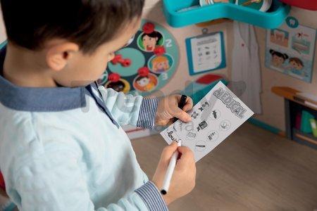 Lekárska ordinácia s anatómiou ľudského tela Doctor's Office Smoby obojstranná s rontgenom a zrakovým testom a 65 doplnkov