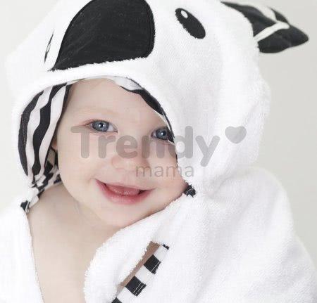 Osuška pre najmenších Koala Bamboo toTs-smarTrike Black&White s kapucňou 100% jemný bambus a bavlna od 0 mesiacov