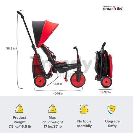 Trojkolka skladacia a sklápateľná smarTfold 6v1 smarTrike 300 Plus Red TouchSteering kompaktná s EVA kolesami od 10 mes