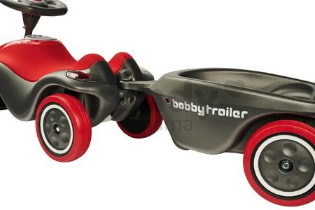 Vozík príves oválny ku všetkým BIG Anthrazit New&Classic&Neo&Next-Scooter odrážadlám šedý od 12 mes