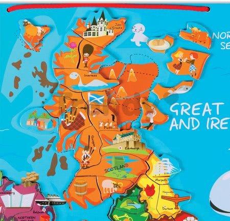 Magnetická mapa Veľká Británia Magnetic Janod 80 magnetov od 7 rokov