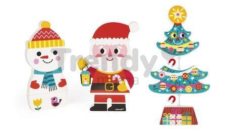 Drevené magnetické figúrky Mikuláš a jeho priatelia Funny Magnets Janod v darčekovom balení 3 ks od 18 mes