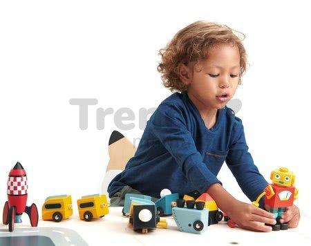 Drevené skladacie rakety Rocket Construction Tender Leaf Toys kreatívna hra 3 druhy 18 dielov