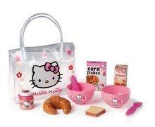 Dětský snídaňový set Hello Kitty Smoby v taštičce s 9 doplňky