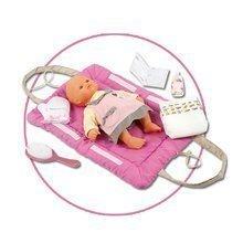 Přebalovací podložka Baby Nurse Smoby pro 42 cm panenku se setem na přebalování tmavěrůžová