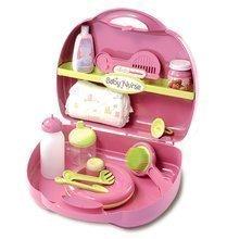 Přebalovací set pro panenku Baby Nurse Smoby v kufříku růžový