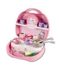 Dětská kuchyňka Hello Kitty Mini Cuisine Smoby v kufříku s 20 doplňky světle růžvá