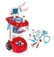 Detský lekársky vozík Smoby zvukový s tlakomerom a 12 doplnkami