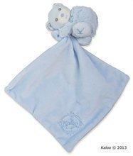 Plyšový medvedík na maznanie Perle-Hug Doudou Kaloo 32 cm v darčekovom balení pre najmenších modrý
