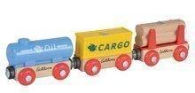 Náhradné diely k vláčkodráhe Train Wagons Eichhorn vláčik s 3 vagónmi a nákladom 5 dielov 24 cm dĺžka od 3 rokov EH1365