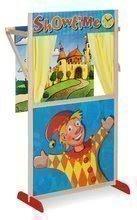 Dřevěné loutkové divadlo Puppet Theatre Eichhorn s pohádkovou scénou a oponou 110 cm výška
