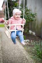 Drevená hojdačka Wooden Baby Swing Outdoor Eichhorn prírodná 140-210 cm dĺžka 30*30 cm sedadlo 20 kg nosnosť od 12 mes