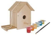 Dřevěná ptačí budka Outdoor Birdhouse Eichhorn Poskládej a vymaluj – se štětcem a barvami od 6 let