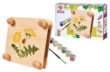 Dřevěný lis na květiny Herbal Outdoor Leaf Press Eichhorn 'sestav a vymaluj' barvičkami od 6 let