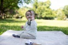 Drevené hryzátko silikónové Bio 100% Natur Baby Pure Teether Eichhorn s guličkami a držadlom od 3 mes