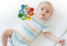 Drevená hrkálka Baby Eichhorn s guličkami a krúžkami od 3 mes EH17048