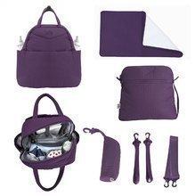 Přebalovací taška Infinity 5v1 toTs-smarTrike s vnitřní taškou a termoobalem na láhev fialová