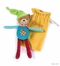 Plyšový medvídek postavička na mazlení Colors-Baby Doudou Pocket Kaloo v kapse 20 cm pro nejmenší