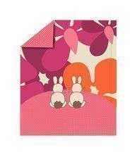 Păturică bebe Sateen Rabbits toT's smarTrike Iepuraş 100% bumbac satinat roz
