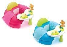 Nafukovacie kreslo Cotoons Cosy Seat Smoby s didaktickým stolom od 6 mesiacov modré/ružové