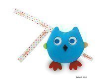 Plyšová sovička Colors-Mini Musicals Kaloo zpívající 12 cm pro nejmenší modrá