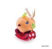 Plyšové chrastítko kuřátko Colors-Rattle Bracelets Kaloo s náramkem 12 cm pro nejmenší