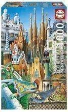 Puzzle Miniature Series - Collage Educa 1000 de piese de la vârsta de 12 ani