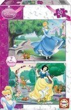 Puzzle pentru copii Disney Albă ca Zăpada şi Cenuşăreasa Educa 2x20 buc