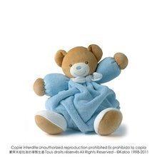 Plyšový medvídek Plume-Blue Bear Kaloo 25 cm v dárkovém balení pro nejmenší modrý