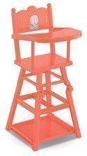Jedálenská stolička ružová High Chair 2in1 Mon Grand Poupon Corolle pre 36-42 cm bábiku od 3 rokov CO141040