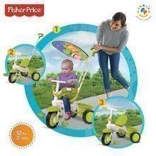 Tříkolka Fisher-Price Classic Plus Green smarTrike od 10 měsíců zelená