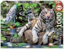 Puzzle White Tigers of Bengal Educa 1000 de piese de la vârsta de 12 ani
