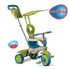 Trojkolka Vanilla Touch Steering smarTrike zeleno-modrá od 10 mes