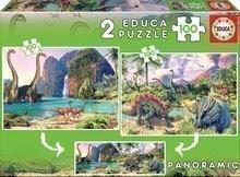 Puzzle pentru copii Dino Educa 2x100 buc de la vârsta de 5 ani