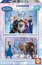 Puzzle pro děti Frozen - Ledové království Educa 2 x 100 dílků od 5 let