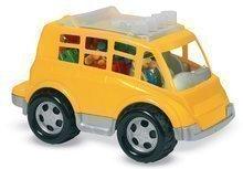 Dětská stavebnice Abrick – kostky a autobus Écoiffier od 18 měsíců žlutý