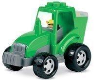 Stavebnica Abrick - traktor s kockami Écoiffier od 18 mesiacov zelený/červený