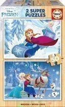 Puzzle din lemn Frozen Educa 2x50 buc de la vârsta de 5 ani
