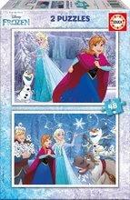 Puzzle pro děti Frozen Educa 2x48 dílků